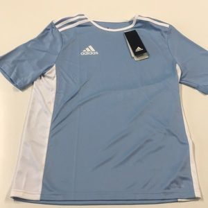 🆕 ADIDAS Youth Large Light Blue Soccer Shirt